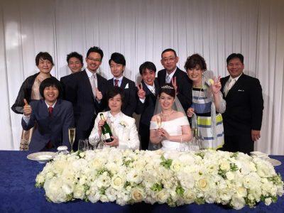 古山夫妻結婚式・コピーライター同期と。